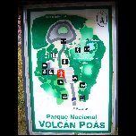 Plan du parc National du Volcan Poas