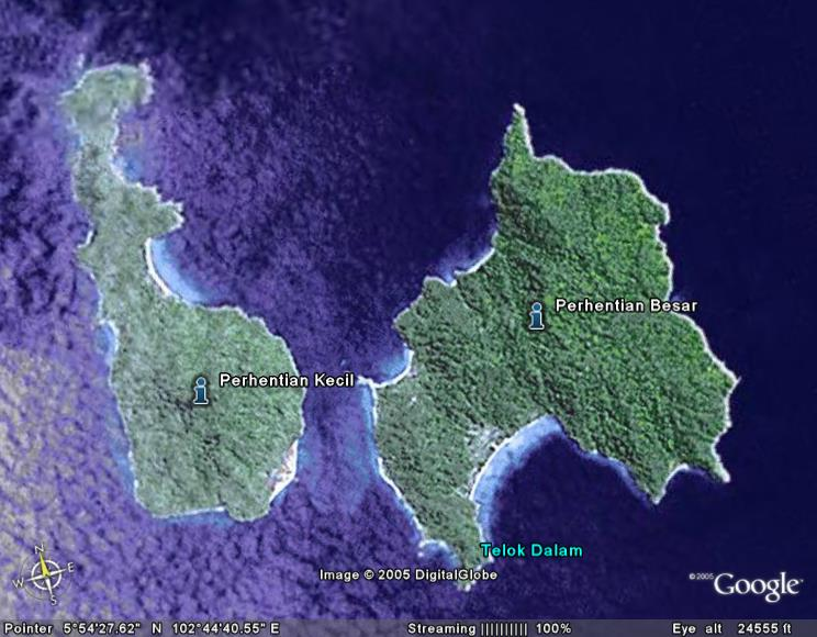 Islands perhentia iles map carte